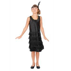 Déguisement charleston enfant fille - Taille: 5-7 ans (128 cm)