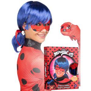 Coffret perruque et masque Ladybug adulte