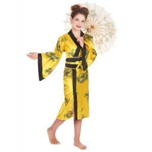 Déguisement chinoise fille - Taille: M 7-9 ans (120-130 cm)