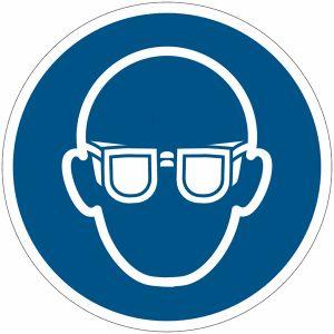 Panneau ISO 7010 Lunettes de protection obligatoires