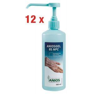 Lot de 12 gels hydroalcooliques Aniosgel 85 NPC 500 ml