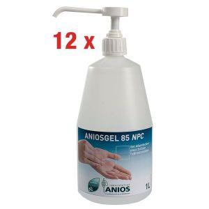Lot de 12 gels hydroalcooliques Aniosgel 85 NPC 1 L