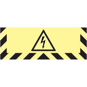 Signalisation au sol photoluminescente Danger électrique
