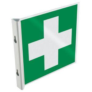 Panneau drapeau 2D NF EN ISO 7010 Premiers secours