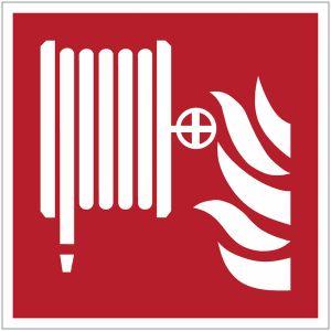 Panneau ISO 7010 Robinet d'incendie armé