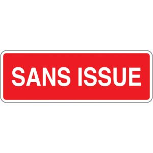 Panneau ISO 7010 incendie avec texte Sans issue