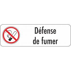 Panneau autocollant Défense de fumer