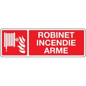 Panneau ISO 7010 avec texte Robinet incendie armé