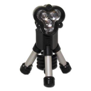 Lampe de poche trépied LED noir