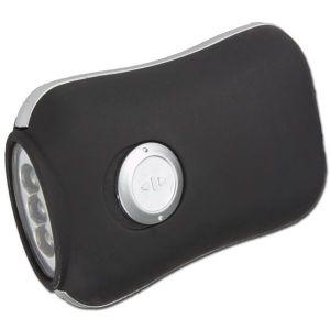 Lampe de poche dynamo, noir, 3 LED
