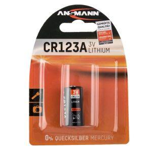 Pile au lithium pour l'appareil photo Ansmann CR123A