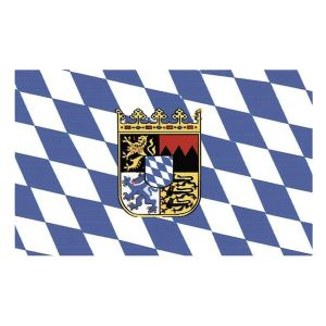 Drapeau Bavière avec Blason