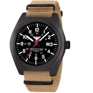 KHS Montre Inceptor Black Steel Bracelet Otan tan