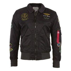 Blouson aviateur vintage Alpha Industries CWU noir