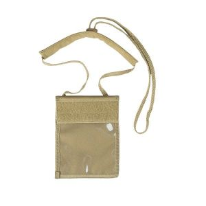 Pochette Tour de Cou Neck Wallet coyote