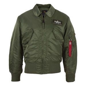 Blouson aviateur Alpha Industries CWU olive