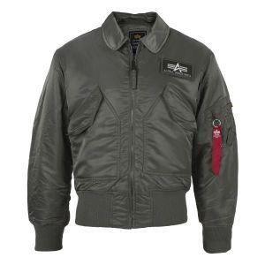 Blouson d'aviateur CWU Alpha Industries gris