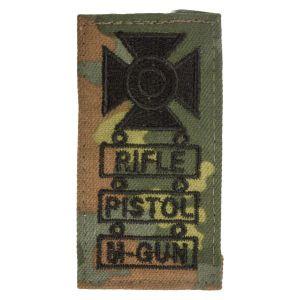 Insigne tireur d´élite Rifle Pistol M-Gun flecktarn