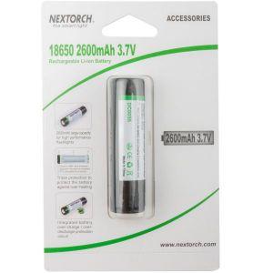 Nextorch Batterie 18650 Li-Ion 3.6 V 2.600 mAh