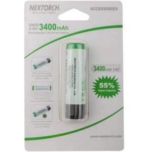 Nextorch Batterie 18650 Li-Ion 3.6 V 3.400 mAh