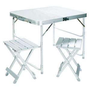 Set de table pliante en aluminium avec 2 chaises Grand Canyon