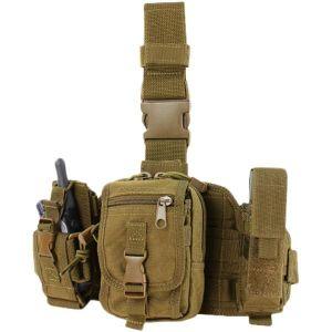 Pochette à accessoires de jambe Condor coyote brown