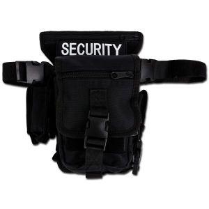 Sacoche avec fixation ceinture et jambe SECURITY noir