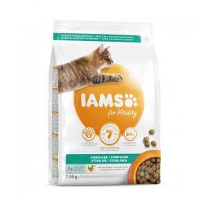 Croquettes IAMS Vitality au poulet pour chat stérilisé Sac 1,5 kg
