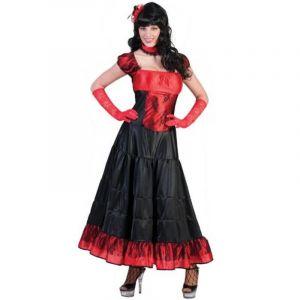 Déguisement Femme - Robe de Saloon - Rouge - Taille XL