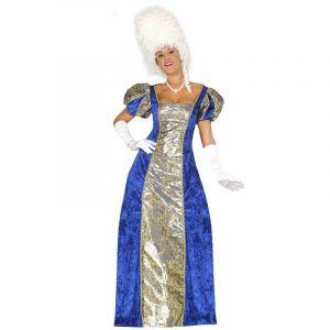 Déguisement de Marquise Doré et Bleu - Taille L