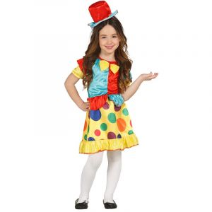 Déguisement Clown Multicolore Fille - 7/8 ans