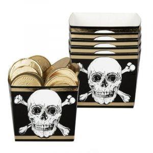 6 Coupelles en Carton - Pirate, Crane et Or