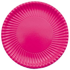 10 Assiettes en Carton - Candy Bar Fuchsia - 23 cm
