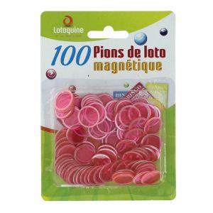 100 Pions de Loto Magnétiques - Rose