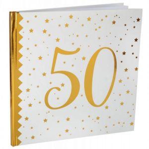 Livre d'Or Anniversaire - Blanc et Or - 50 ans