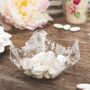 Coupelle Transparente Fleurie