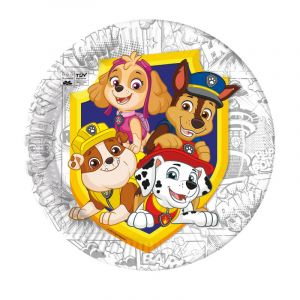 8 assiettes en carton - Pat Patrouille - Compost (FSC®) - 23 cm