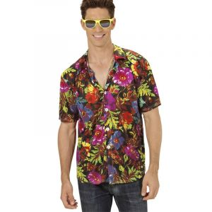 Chemise Hawaïenne Noir - XL