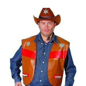 Gilet Cowboy Adulte - Marron