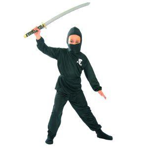 Déguisement Ninja Noir Garçon-10/12 ans