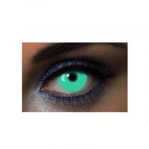 "Lentilles Fantaisies - Vert - ""UV Green"" - 1 Jour (Sans correction)"