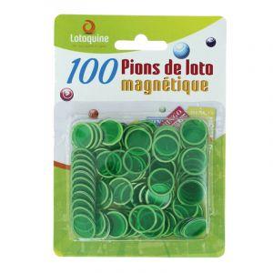 100 Pions de Loto Magnétiques - Vert