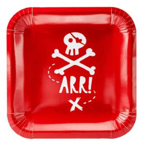 6 Assiettes en Carton - Pirate Party