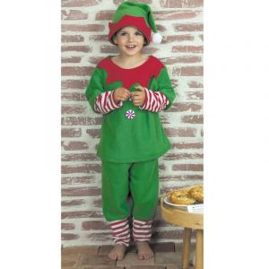 Déguisement Enfant - Lutin du Père Noël - Taille 5-6 ans