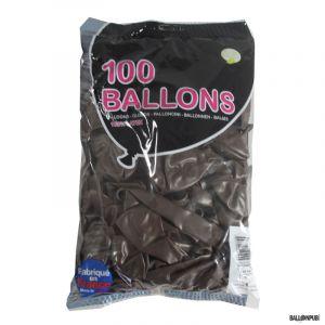 100 Ballons de Baudruche couleur Chocolat