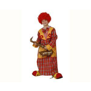 Déguisement Enfant Tunique de Clown à Carreaux 10/12 ans
