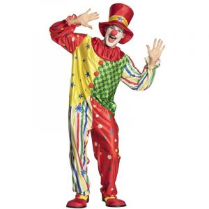 Déguisement Homme - Clown - Combinaison et Chapeau - Taille L