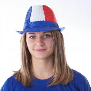 Chapeau Borsalino Tricolore France à Sequins