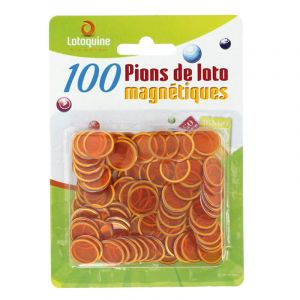 100 Pions de Loto Magnétiques - Orange
