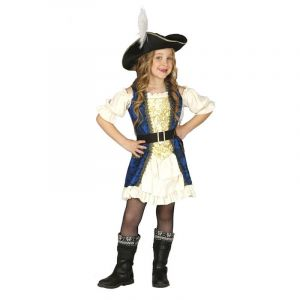 Déguisement Capitaine Pirate fille - 5/6 ans